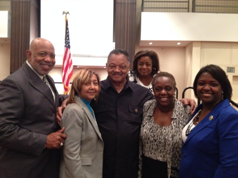 Georgia State Legislators with Rev.Jessie Jackson at the DNC in Atlanta...