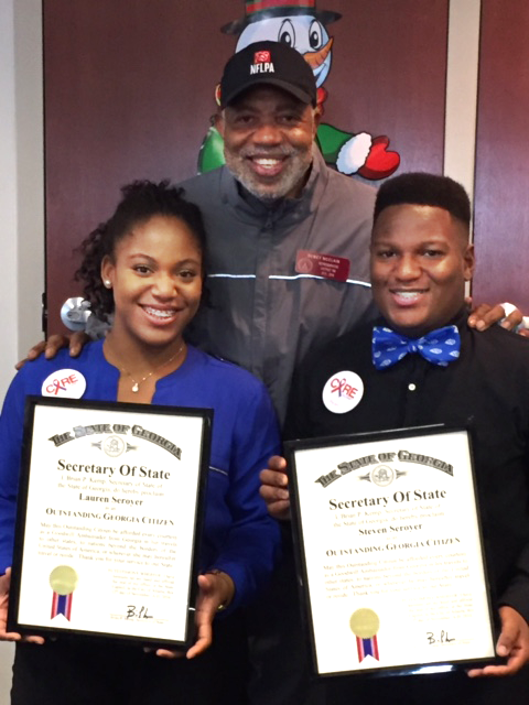 twins receive outstanding georgia citizens award state house