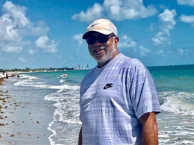 Dewey McClain at the beach