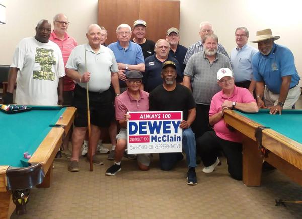 Annual Pool Tournament with State Representative Dewey McClain